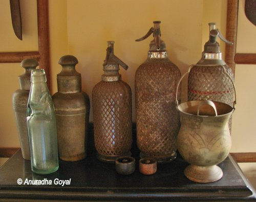 Various Avatars of Soda Bottles on display at Goa Chitra Museum