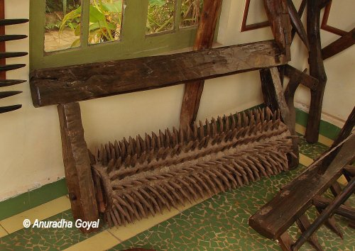 Traditional Farming Equipment used by the local farmers on display at Goa Chitra Museum