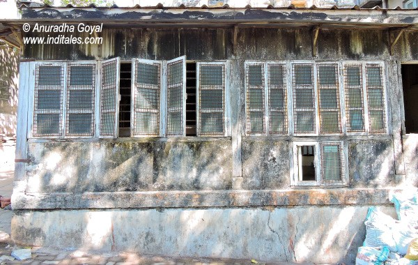 Old windows of the heritage buildings around