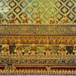 Ornate borders on the walls of Grand Palace Bangkok