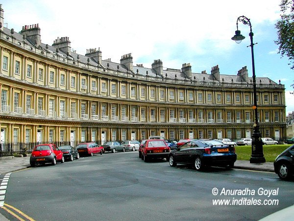 Royal Crescent - a fascinating building at Bath, UK