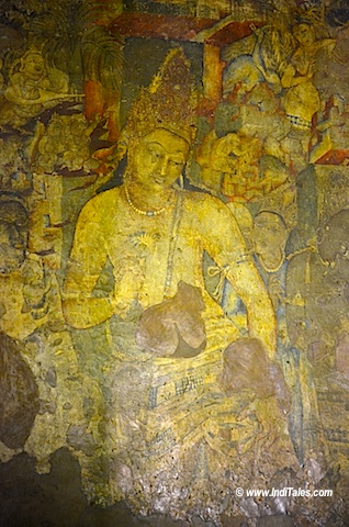 Understanding ajanta paintings at cave no 1 unesco world for Ajanta mural painting