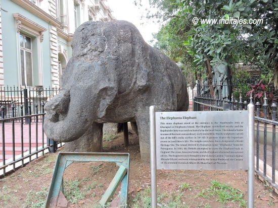 Elephant from Elephanta Caves displayed at Bhau Daji Lad Museum, Mumbai