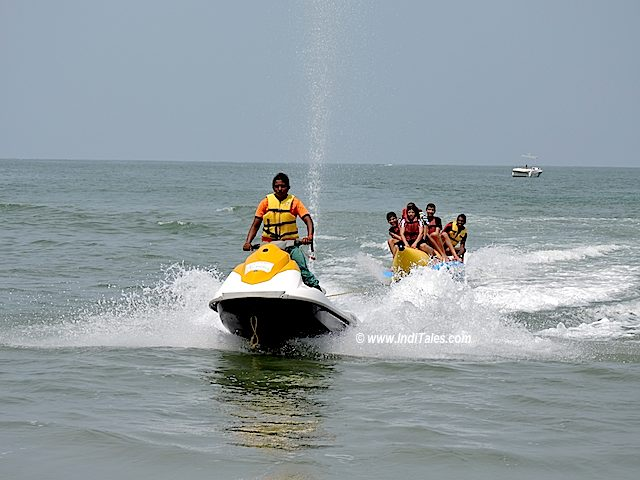Adventure girl from Karnataka taking guests on a Banana Ride