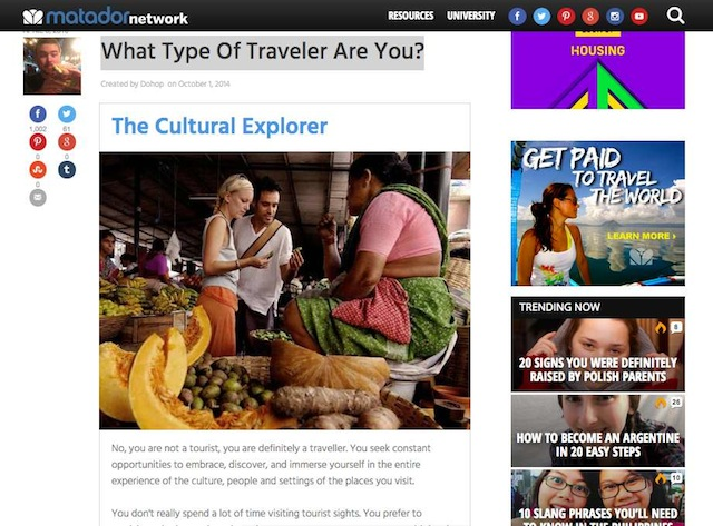 what type of traveler are you Quiz by Matador Network