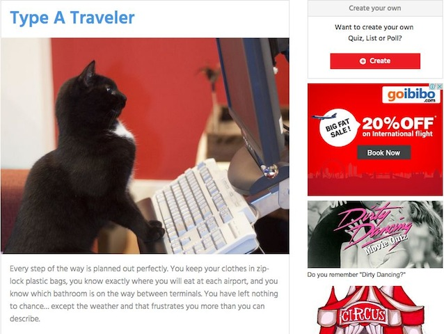 PlayBuzz's Travelling personalities