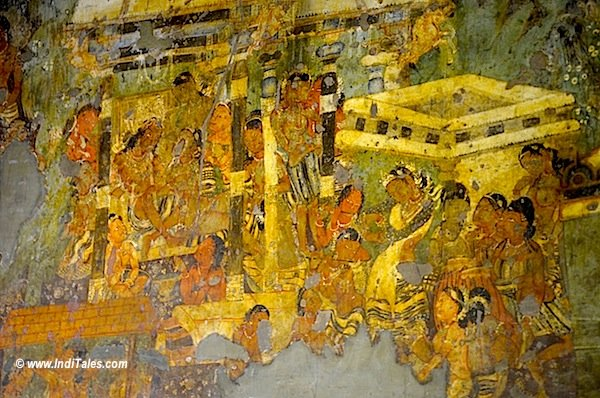 Jataka Tales paintings at the caves