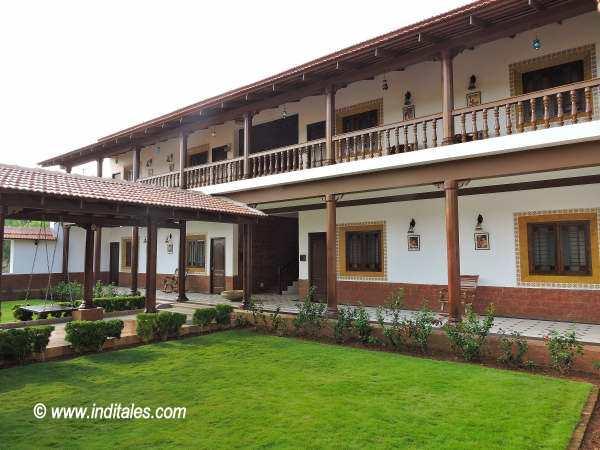 Traditional architecture at Balkatmane Heritage Resort