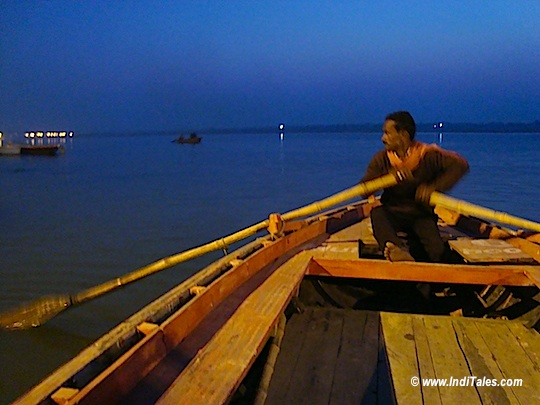 Morning boat ride at ghats of ganga in varanasi