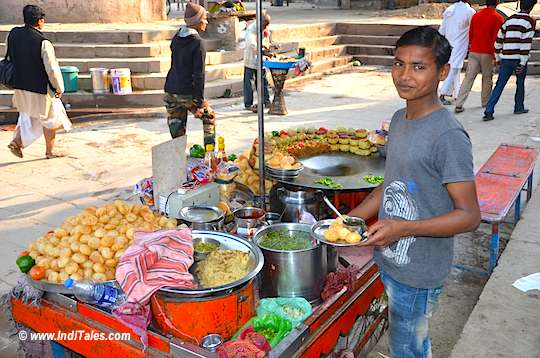 Chaat Stall at Assi Ghat in Varanasi