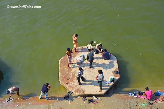 Top View of a Ganga Ghat
