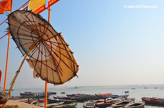 Canopies at Ganga Ghat in Varanasi