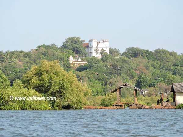 Divar Island Church view from the Mandovi river boat ride