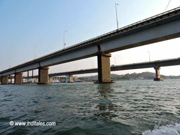 Twin Bridges of Mandovi in Goa