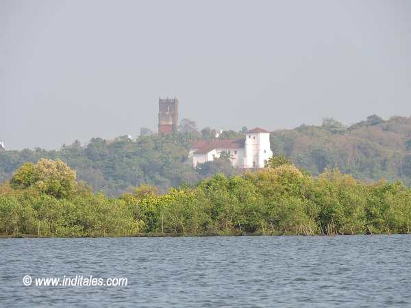 Old Goa Churches from Mandovi