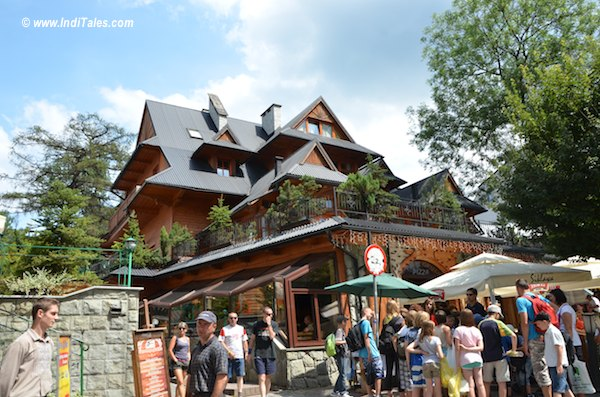 A curious house in Zakopane Market