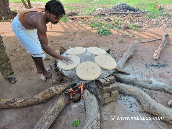 Giant Chapatis or bread for Elephants at Bandhavgarh National Park