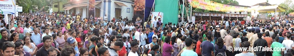 Crowd at Bonderam Festival, Divar Island, Goa