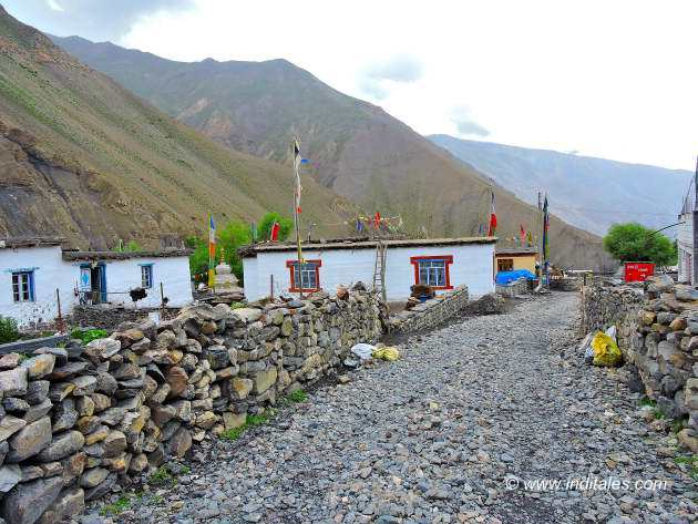 The village landscape in the Spiti Valley