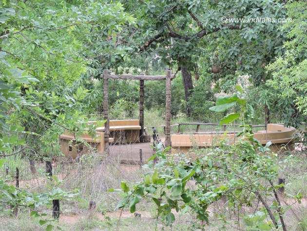 Kanha Earth Lodge Reception Area