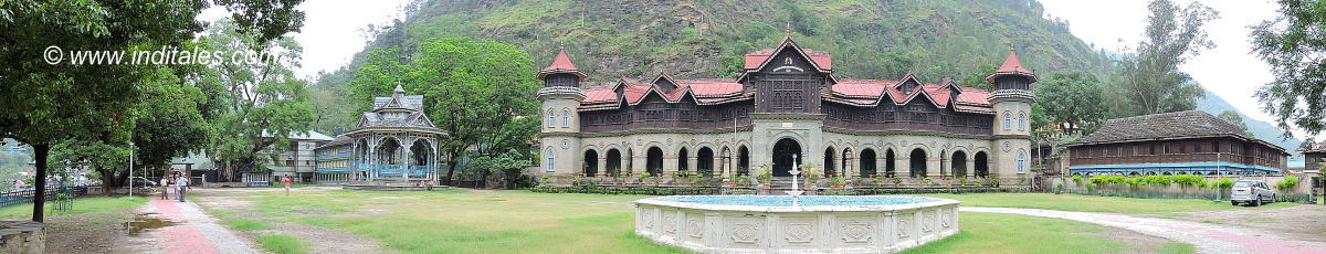 Panorama of Padam Palace at Rampur Bushahr Himachal Pradesh