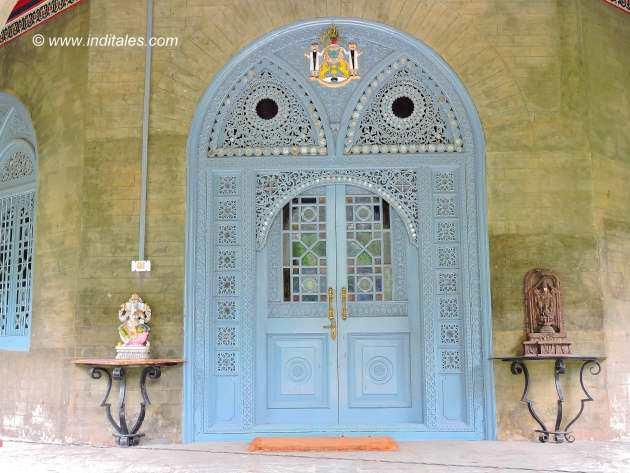 Blue doors at Padam Palace Rampur Bushahr Himachal Pradesh