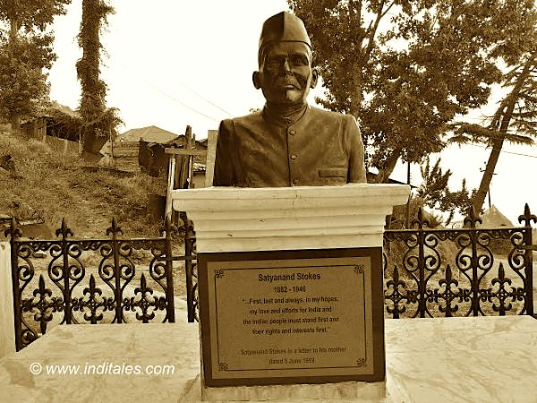 Bust of Satyanand Stokes at Thanedhar, Himachal Pradesh