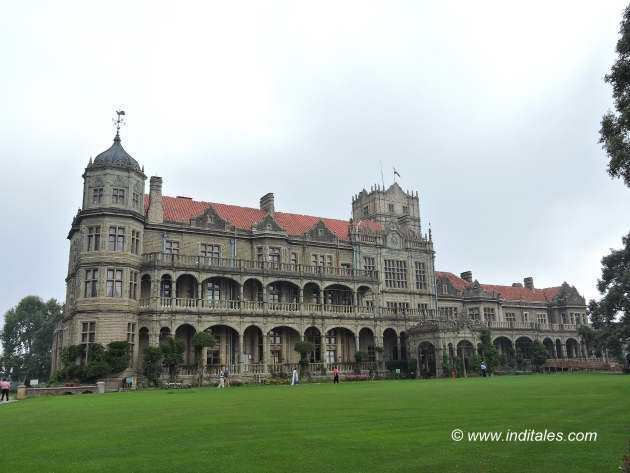 Landscape view of Rashtrapati Niwas or Viceregal Lodge, Shimla