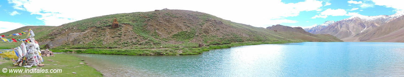 Panorama of Chandratal Lake
