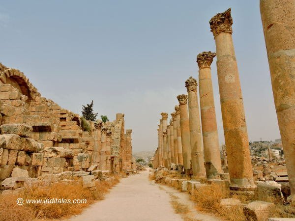 Cardo - the heart of Jerash City