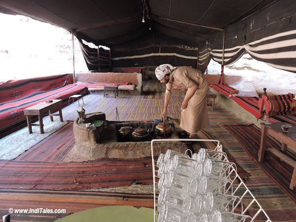 A Bedouin Tent - always ready to serve Tea. Visit Jordan experience