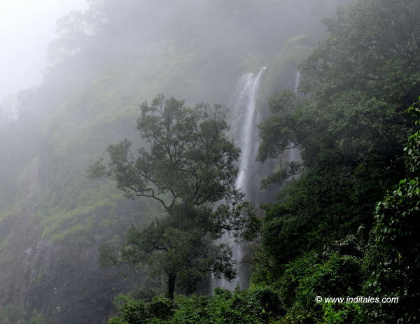 View of a Waterfall at Amboli Ghat