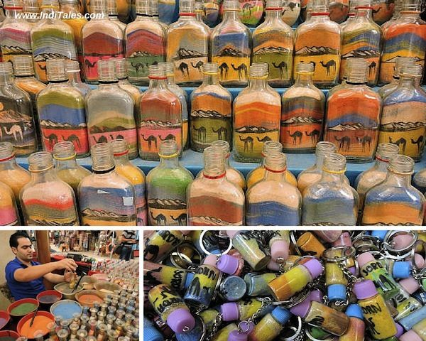 Sand Art in a Bottle, an interesting Jordan Souvenirs