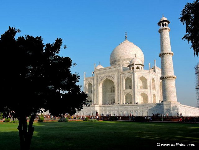 Garden View of Taj Mahal