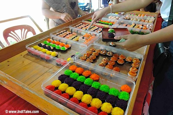 Colorful sweets at Bann Ton Tan riverside market