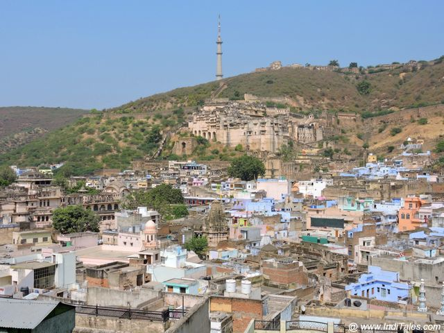 The first sight of Bundi Town