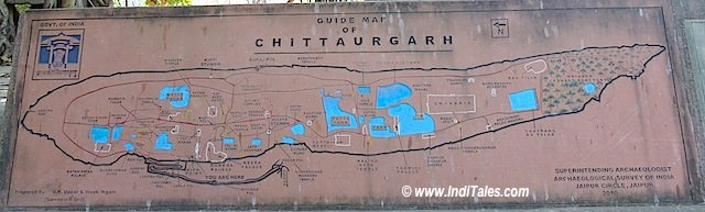 Fish shaped Chittaurgarh Fort Layout