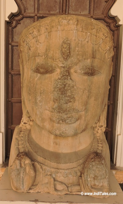 Shiva Head in stone at the museum