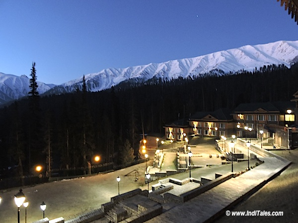 Dusk view of Himalayas from Khyber Himalayan Spa & resort Gulmarg