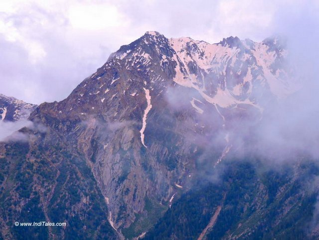Close up view of Kinner Kailash Range from Kalpa