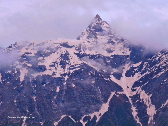 One of the peaks of Kinner Kailash Range
