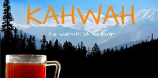 Kahwah or Kahwa the Kashmiri drink or beverage