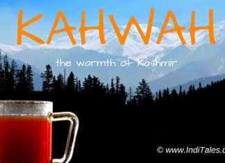Kahwah or Kahwa the Kashmiri drink or beverage