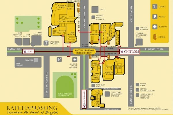 Walking Map of Ratchaprasong