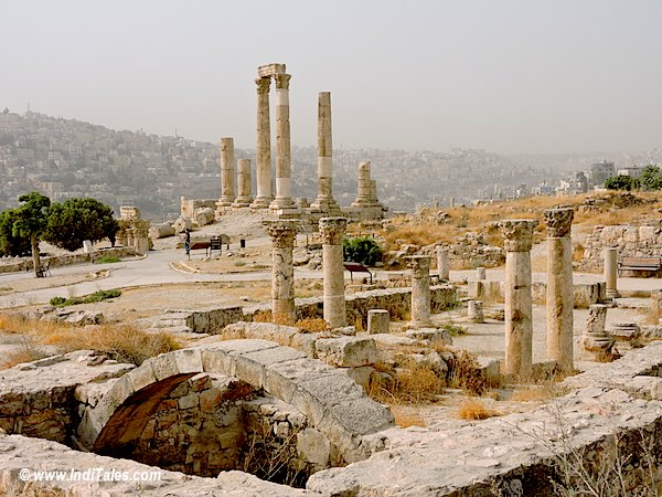 Remains of Byzantine Church at Amman Citadel Jordan