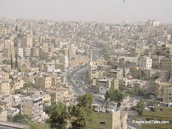 View of Amman City from Amman Citadel Jordan
