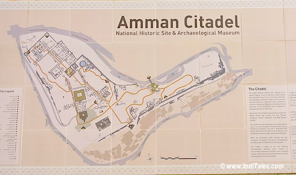 Layout Plan of Amman Citadel Jordan