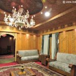 Interiors of a Deluxe luxury houseboat in Srinagar