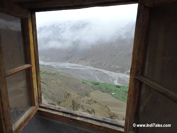 View of Spiti Valley from Dhankar Monastery