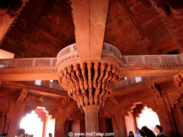 Inside of Ibadat Khana or Diwan-e-khaas at Fatehpur Sikri